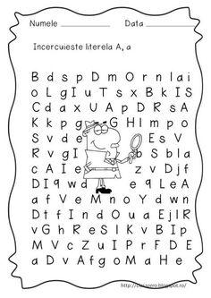 Fise litere | CLASA PREGATITOARE Preschool Activities, Alphabet, Education, Montessori, Basket, 1st Grades, Alpha Bet, Onderwijs, Learning