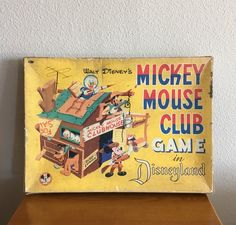 Walt Disney's Mickey Mouse Club Disneyland Game, in Original Box- Vintage Disney Board Game by MagicalNostalgia on Etsy Disneyland Games, Disneyland Vintage, Disney Games, Disney Toys, Disney Stuff, Walt Disney Mickey Mouse, Walt Disney Parks, Vintage Mickey Mouse, Disney Collectibles