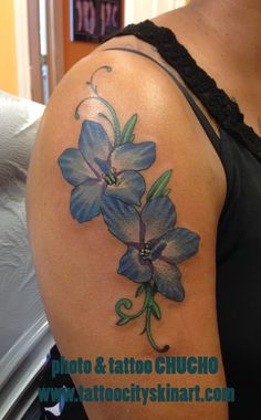 july birth flower larkspur tattoo larkspur tattoo ideas for a rh pinterest com larkspur flower tattoo meaning larkspur flower tattoos