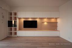 Living Room Wall Units, Living Room Tv Unit Designs, Home Design Living Room, Living Room Decor, Modern Tv Room, Living Room Modern, Lcd Wall Design, Tv Cabinet Design, Rack Tv