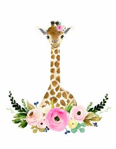 41 Ideas baby nursery ideas giraffe for 2019 Baby Nursery Sets, Nursery Art, Girl Nursery, Nursery Paintings, Nursery Ideas, Room Ideas, Giraffe Art, Elephant, Giraffe Nursery