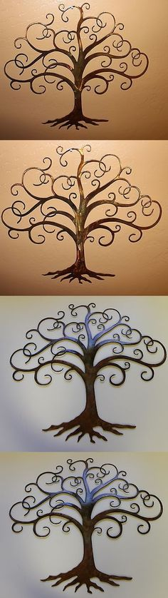 Wall Sculptures 166729: Swirled Tree Of Life 30 Tall Metal Wall Art Decor By Hgmw -> BUY IT NOW ONLY: $99.99 on eBay!