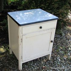 Country Living's Flea Market Haul: Pams Enamel-Topped Cabinet