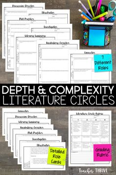 Depth and Complexity Literature Circles! Add some depth and complexity to traditional book clubs with this complete and ready-to-use resource! You will be amazed by the level of discussion and critical thinking that will take place among your students.