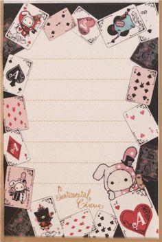 Sentimental Circus Shappo spades mini Note Pad 3