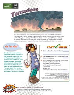 Here's a set of FEMA fact and preparedness pages on tornadoes.