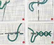 108 – Igualmente desde los inicios, encontramos anillado de un solo hilo, que forma la tela sin nudos. Este sistema es típico del periodo Precerámico.
