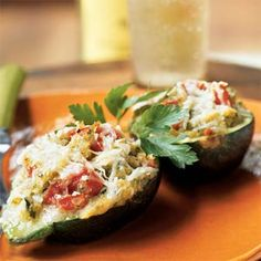 Eight-Ball Zucchini Parmesan - Summer Squash and Zucchini Recipes - Cooking Light Add ground turkey Squash Zucchini Recipes, Summer Squash And Zucchini Recipe, Zucchini Parmesan, Vegetable Recipes, Veggie Dishes, Eight Ball Squash Recipe, Healthy Zucchini, Veggie Meals, Kitchens