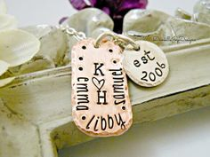 Personalized Copper and Sterling Silver Family Necklace by Danielle Joy Designs | Hatch.co