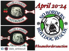 Morning friends!!! Just a reminder a fantastic auction is going right now .  Please go check it out  it's a great way to help support our rescues @dale_airbiscuit with @repostapp.  The @bulliesofanarchy auction to benefit @nobordersbulldogrescue is in full swing. We have English & French bulldog-themed items for pups & people so stop by the BOA page and place some bids! Pay day is coming and so is your tax refund so use some to help bullies in need. No Borders is a 501c3 so all bids are…