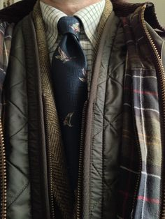 Barbour Bedale, tattersall and tweed.