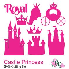 Royal DXF SVG PNG Castle Princess Cinderella от EasyCutPrintPD