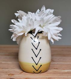 Mustard Small Stoneware Vase by Toast Ceramics