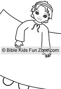 Joseph bible character for children's Nativity set craft.
