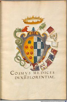 Insignia ... XII. Insignia Florentinorum - BSB Cod.icon. 277 , [SI] Italia, 1550-1555 [manoscritti BOD Cod.icon. 277]