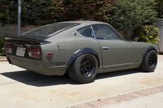 Datsun 240z....my parents drove to Disneyland in one of these with a desk chair bolted into the back for me when I was almost 5. Times have changed but what a great looking car.