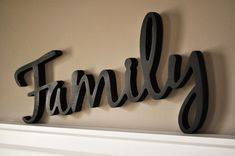 Word Art Wood 3D Cutout Family by MRC Wood Products. $27.00 USD, via Etsy.