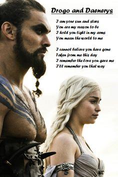 Drogo and Daenerys gotpoem