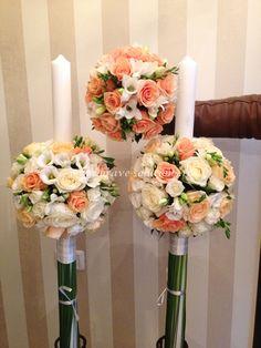 Brave Events - Lumanari de cununie pentru nunta si botez Orchid Bouquet, Candels, Handmade Candles, Special Day, Flower Arrangements, Orchids, Monkey, Wedding Flowers, Centerpieces