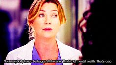 14 Meredith Grey Quotes From 'Grey's Anatomy' to Live By Greys Anatomy Frases, Grey Anatomy Quotes, Grey's Anatomy, Merideth Grey Quotes, Cristina Yang Quotes, Tips To Be Happy, Dark And Twisty, Derek Shepherd, Ways To Be Happier