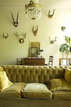 taxidermy. plus. chandelier. oh. yeah.