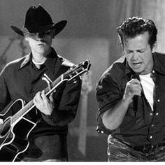 "John and Kenny Chesney on CMT's ""Crossroads. John Mellencamp, Voice Of America, Kenny Chesney, Feel Good, The Voice, Singing, Dance, Feelings, Music"