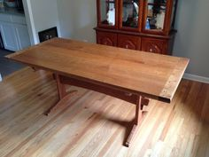 Fumed Curly Cherry Dining Table