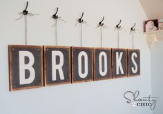 Free Printables Letters for making DIY projects like this or framing.  So many possibilities!