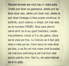 Fiecare femeie are rolul sau in viata asta. Daughter Quotes, True Words, Motto, Love Quotes, Poems, Relationship, Motivation, Feelings, Blog