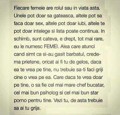 Fiecare femeie are rolul sau in viata asta.