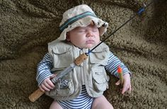 Baby boy Fishing Outfit | And your adorable L.L.Bean pets.