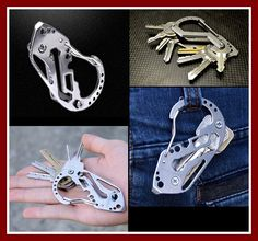 EDC Multifunction quickdraw belt guard key holder stainless steel carabiner key chain