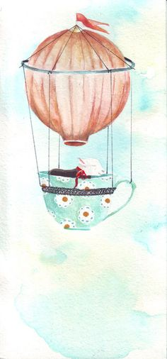 FLOATING AIR BALLOON WITH BLACK SHEEP I ORIGINAL BY HELGAMCL, $22.00