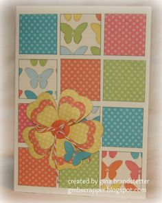 Gina Brandsetter's beautiful Dotty for you card