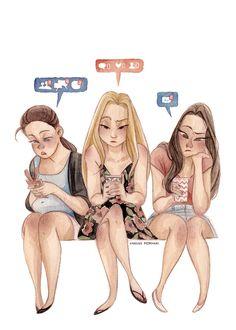 Social Media Generation - Karoline Pietrowski Illustration
