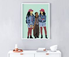 Sister Sister Art Print Poster Classic TV Show Print Sisters Tv Show, Sisters Art, Cute Wallpaper Backgrounds, Cute Wallpapers, Buzzfeed Gifts, Christmas Gifts For Sister, Black Art Pictures, Black Girl Art