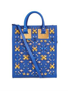 Sophie Hulme Mini Albion stone-embellished leather tote