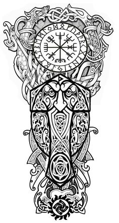 Sleeve Tattoos for Women Best Tattoo Sleeve Ideas For Women Fantastic Half and Full Sleeve Tattoos for Women images Ideas Designs for Girls 2019 2020 Viking Tattoo Sleeve, Viking Tattoo Symbol, Norse Tattoo, Viking Tattoo Design, Full Sleeve Tattoos, Celtic Tattoos, Tattoo Sleeve Designs, Warrior Tattoo Sleeve, Viking Warrior Tattoos