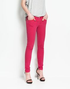 dyed trousers with zips / zara