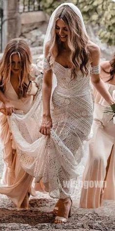 Mermaid Lace Sweetheart Elegant Bridal Long Wedding Dresses, in 2019 2 Piece Wedding Dress, How To Dress For A Wedding, Sheath Wedding Gown, Lace Mermaid Wedding Dress, Mermaid Dresses, Handmade Wedding Dresses, Western Wedding Dresses, Bohemian Wedding Dresses, Sexy Wedding Dresses
