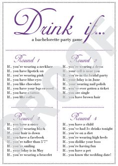 I made this for saturday! haha, bachelorette party
