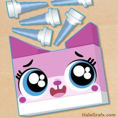 Click here to download a FREE Printable LEGO Movie Pin the horn on Unikitty party game!