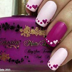 https://www.pinterest.com/myfashionintere/ Pink.Hearts Nails ❤