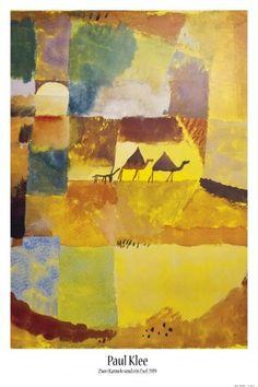 Paul Klee   Deux Dromadaires Et Un Âne, 1919   Poster