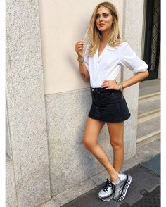 Chiara Ferragni wearing #HOGAN #H222 Maxi Platform #sneakers Join the #HoganClub #lifestyle and share with us your @hoganbrand pictures on Instagram