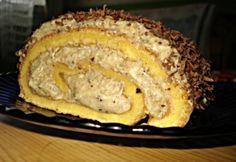 Rumos-diós piskótatekercs Cookie Recipes, Dessert Recipes, Party Recipes, Hungarian Desserts, Poppy Cake, Looks Yummy, No Bake Cake, Nutella, French Toast