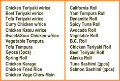 Ladner Sushi 5034 48th Ave. 604-946-7781 M-F 11-9 Sat & Sun 11:30-9