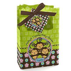 http://www.bigdotofhappiness.com/baby-shower/baby-shower-themes/triplets-baby-shower-themes/triplet-monkey-2-girls-1-boy-baby-shower-theme.html