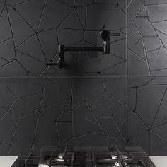 Black Grout, Black Tiles, Shower Floor, Tile Floor, Black Backsplash, Kitchen Backsplash, Backsplash Ideas, Kitchen Countertops, Crackle Painting