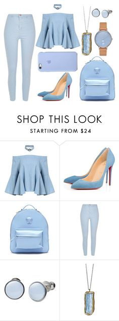 """Untitled #156"" by babaygirl ❤ liked on Polyvore featuring Christian Louboutin, Versace, River Island and Skagen"